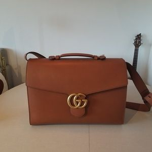 Beautiful sable color Gucci briefcase/carryall